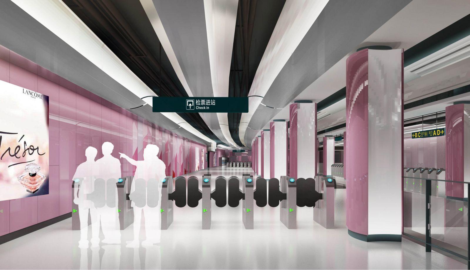 青岛地铁一,二号线室内设计,公共艺术设计